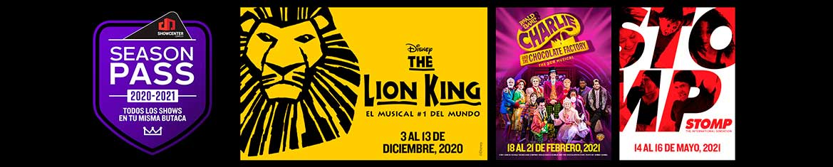 SEASON PASS BROADWAY EN MONTERREY TEMPORADA 20-21